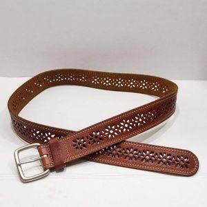 Aeropostale Floral Leather Laser Cut Belt
